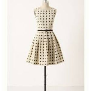 ANTHROPOLOGIE EVA FRANCO POLKA DOT DRESS - SIZE 4